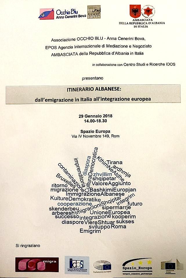 Volantini i Takimit mbi Emigracionin Shqiptar në Itali - Romë, 29 Janar 2018