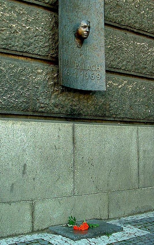 Jan Palach - Përmendorja në Pragë