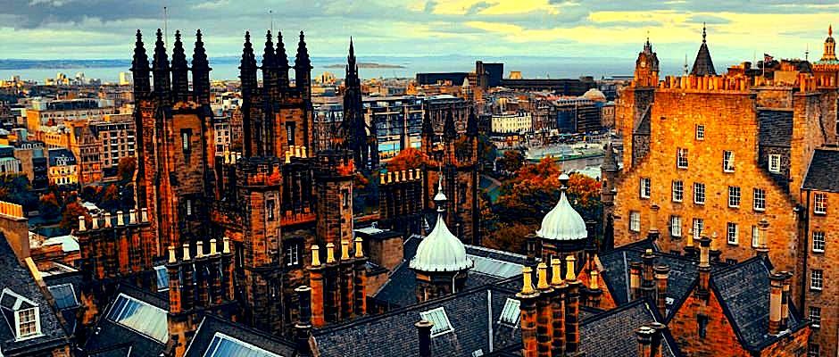 Pamje nga qyteti i Edinburgh