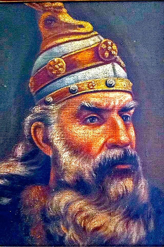 Gjergj Kastrioti - Skënderbeu - pikturë nga Ndoc Gajtani