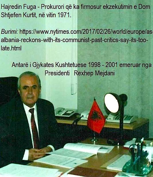 Hajredin Fuga - Prokurori që ekzekutoi Dom Shtjefën Kurtin