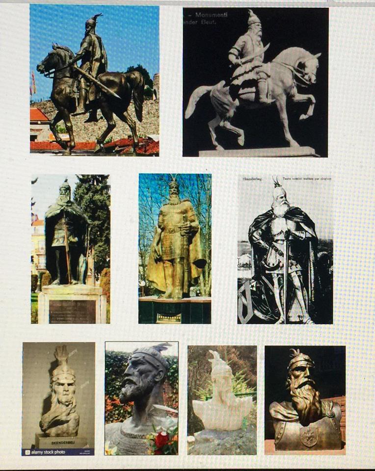 Monumente te Gjergj Kastriotit - Skenderbeut  (mbledhur nga Lek Pervizi)