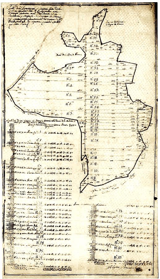Harta e pronave Banditella dhe Sterpaglie në vitin1757