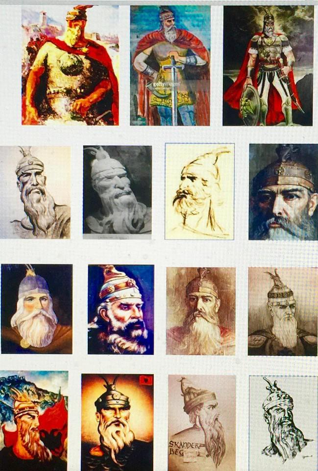 Portrete te Gjergj Kastriotit - Skenderbeut  (mbledhur nga Lek Pervizi)