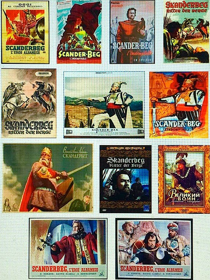 Pllakate filmash mbi Gjergj Kastriotit - Skenderbeut   (mbledhur nga Lek Pervizi)