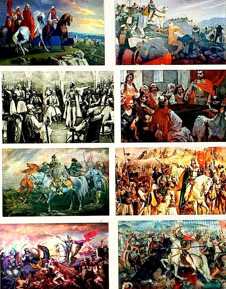 Tabllo pikture mbi Gjergj Kastriotit - Skenderbeut   (mbledhur nga Lek Pervizi)