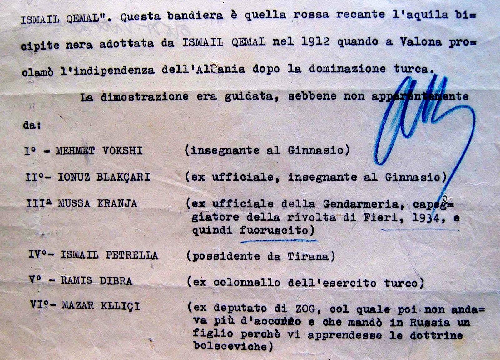 Raporti i policisë për demonstratën e 28 nëntorit 1939