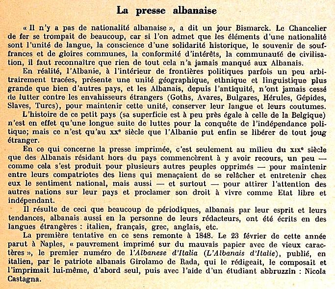 Shkrimi në Francë për shtypin Shqiptar