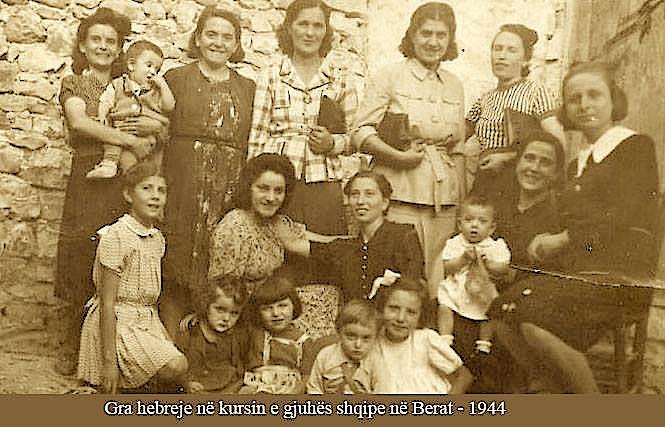 Gra hebreje në kursin e gjuhës shqipe - Berat 1944