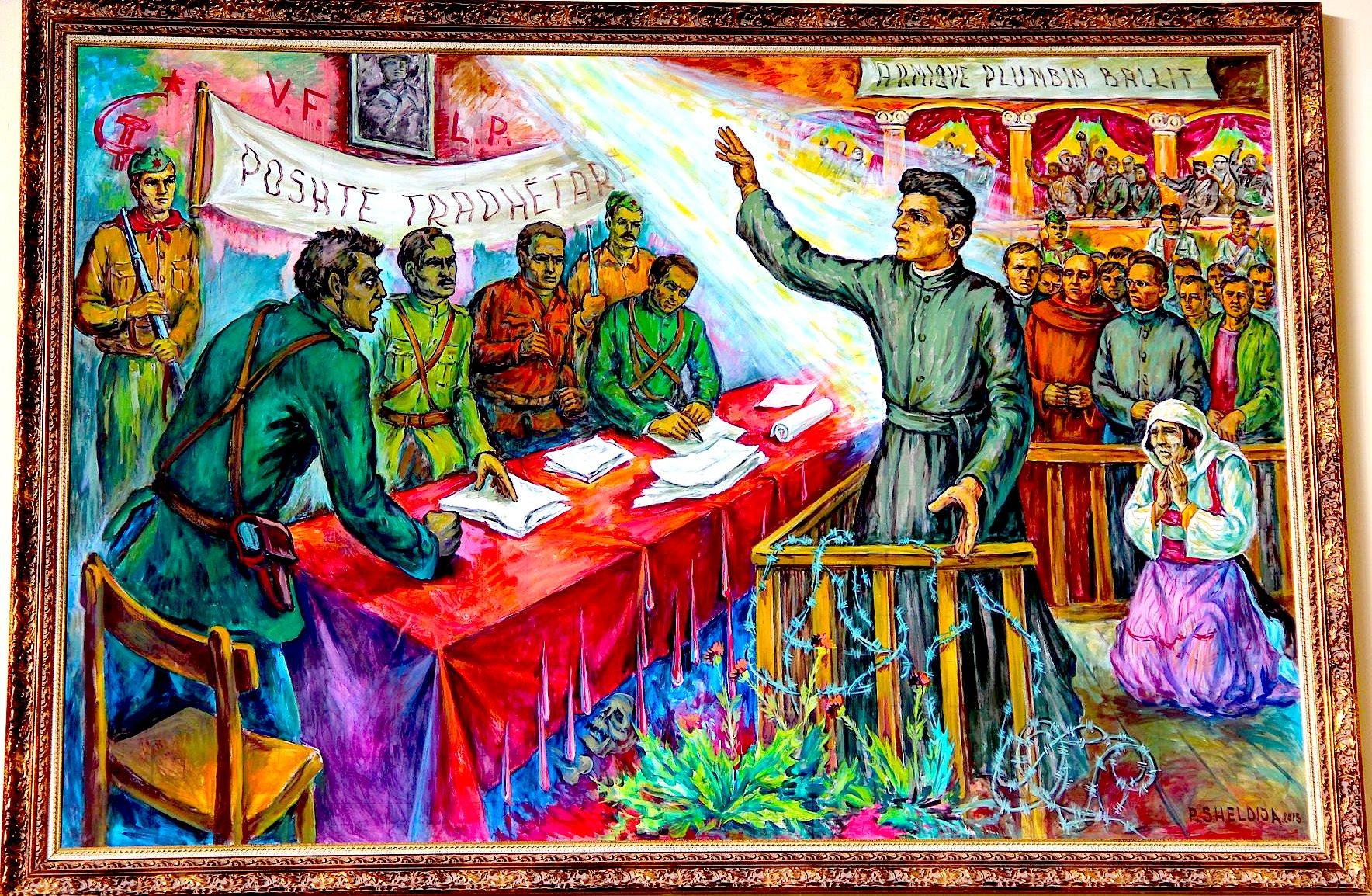 Pjerin Sheldija - Gjyqet komuniste kundra klerit