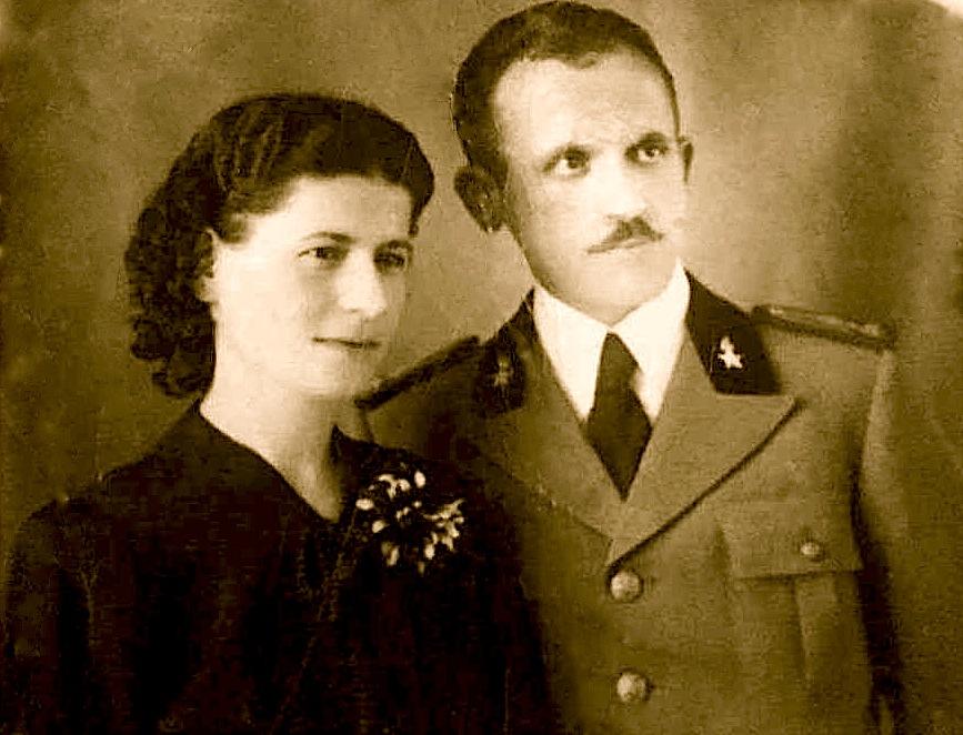 Gjelosh Luli (1912-1947) me bashkëshorten - Lena Bib Mirakaj – Luli