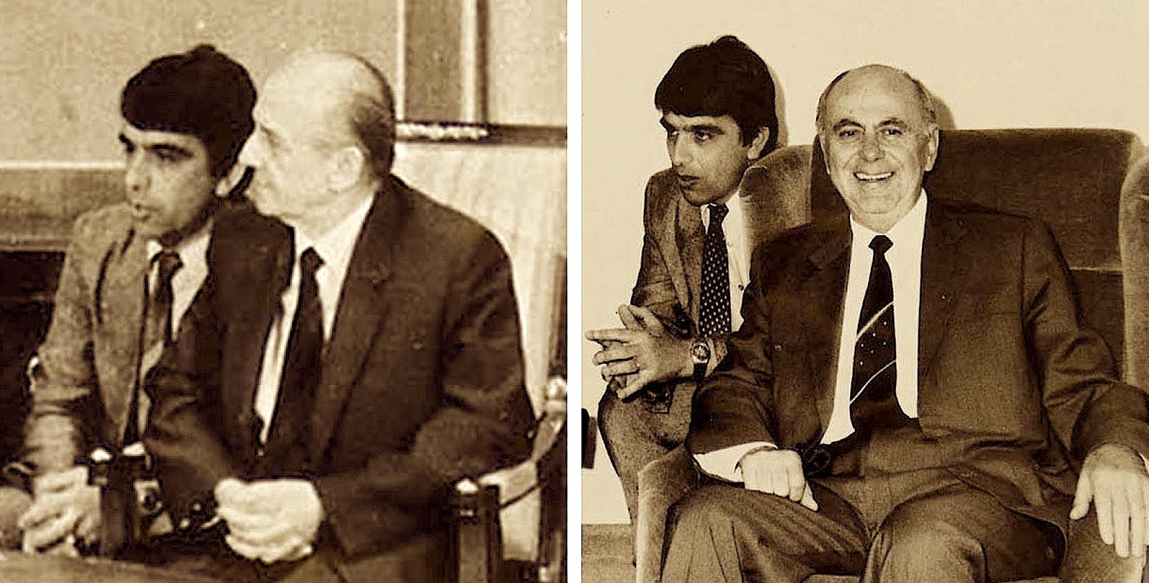 Historiani i Mesjetës Pëlumb Xhufi me Ramiz Alinë dhe Foto Camin