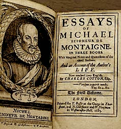 """Babai i Esse-ve"" Michel de Montaigne"