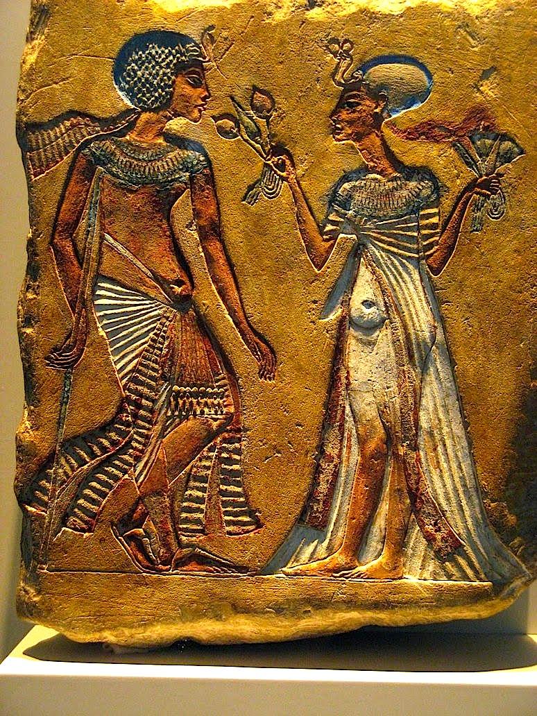 Nefertiti dhe Akhenaton - arti egjiptian