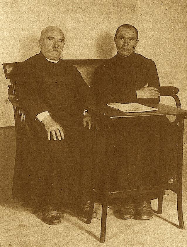 Jak Gardini me mësuesin e tij dom Ndre Mjedën, Shkodër 1932