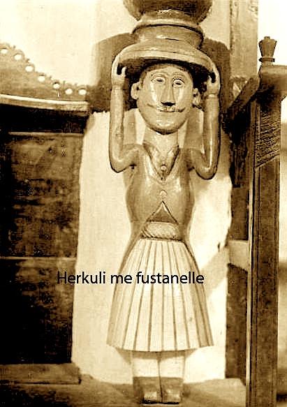 Herkuli me fustanellë, Kisha e Shën Kollit në Paftal