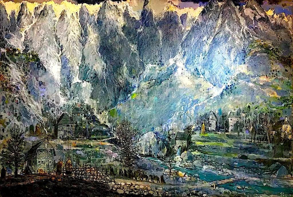 Mes Alpeve (Pikturë nga George Pali)