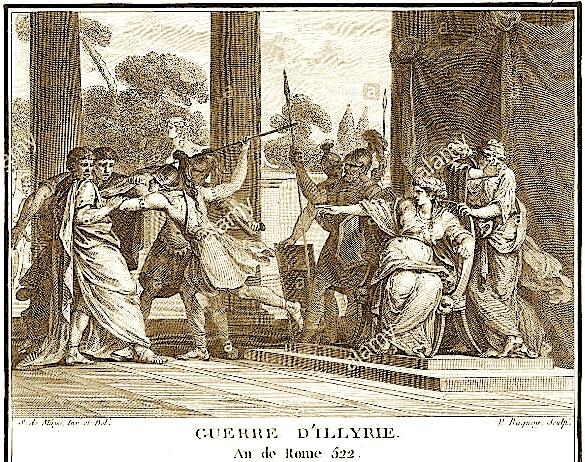 Luftërat Ilire - Mbretëresha Teuta dhe Ambasadori Romak