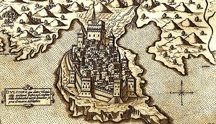 Ulqini i Lashtë - Hartë Historike