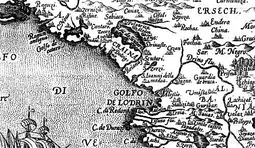 Hartë e vjetër e Zonës së Shkodrës