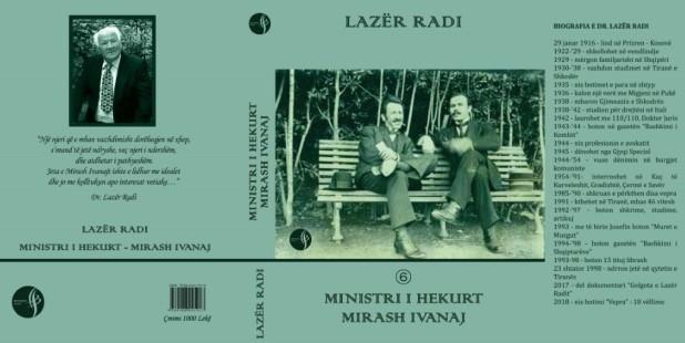 "Kopertina ""Mirash Ivanaj"" Ministri i Hekurt - nga Lazer Radi"
