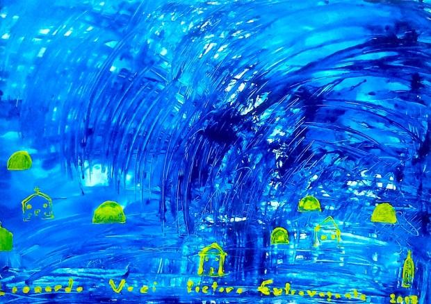 Blue Night in Norway - Natë në Kristiansand, Norvegji.