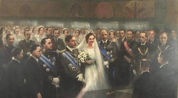 Dasma e Mbretit Zog (tabllo e piktorit italian G. Cavallini - 1938)