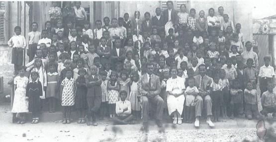 """Gjate Reformës Arsimore Ivanaj"""" në shkollën Zogu i Parë, Vlorë"""