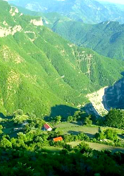 Pamje e fshatit Salcë, Krahina Nikaj-Mërtur