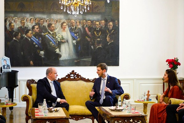 Princi Aberto i Monakos Princ Leka dhe Princeshë Elia
