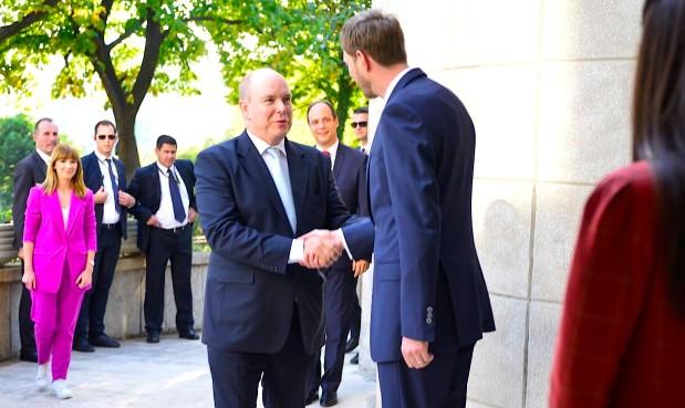 Vizita e Princ Abertit të Monakos ne Oborrin Mbretëror Shqiptar
