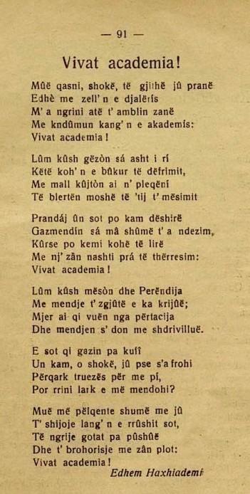 Et'hem Haxhiademi - Vivat Academia 1928