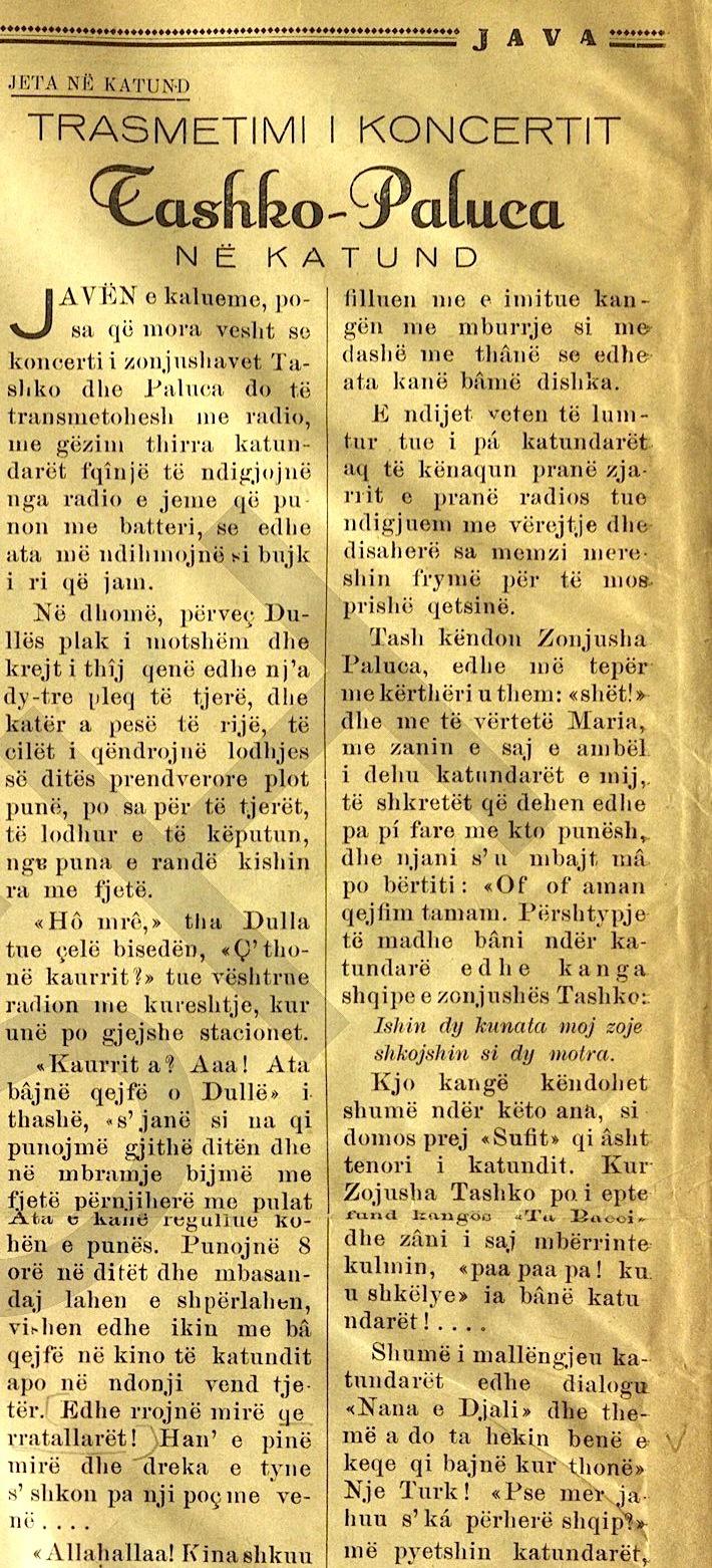 Hasan Farka - Gazeta Java - 1938-39