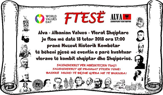 Organizata ALVA - Albanian Values - Vlerat Shqiptare