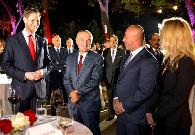 Prin Leka, Presidenti Meta, dhe Kryeministri Haradinaj