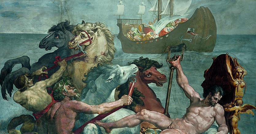 Pellegrino Tibaldi, «Poseidoni ne anijen e Odisese»,