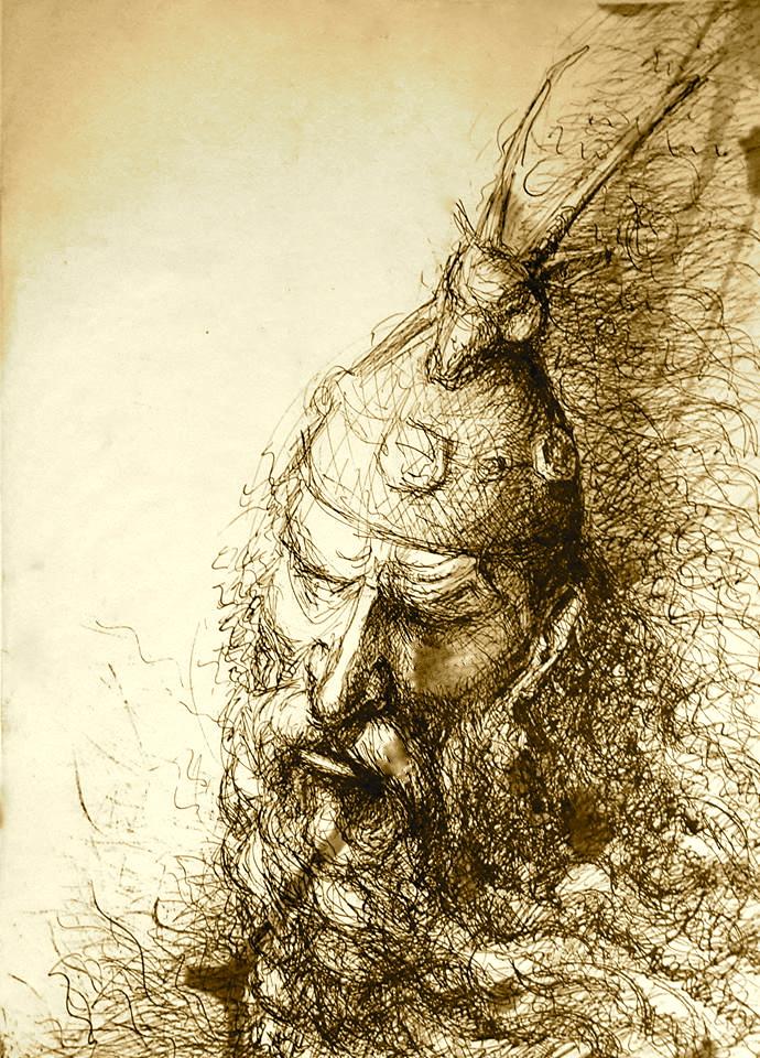 Portret i Skenderbeut - nga Agim Morina