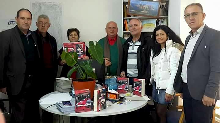 """Xheva Salihaj & Hasan Qyqalla ditën kur nxorrëm librin nga """"Lena Graphic"""" - Prishtinë"""