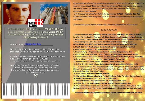 Programi përkujtimor për 550 vjetorin e Gjergj Kastriotit dhe veprës së Prenkë Jakovës