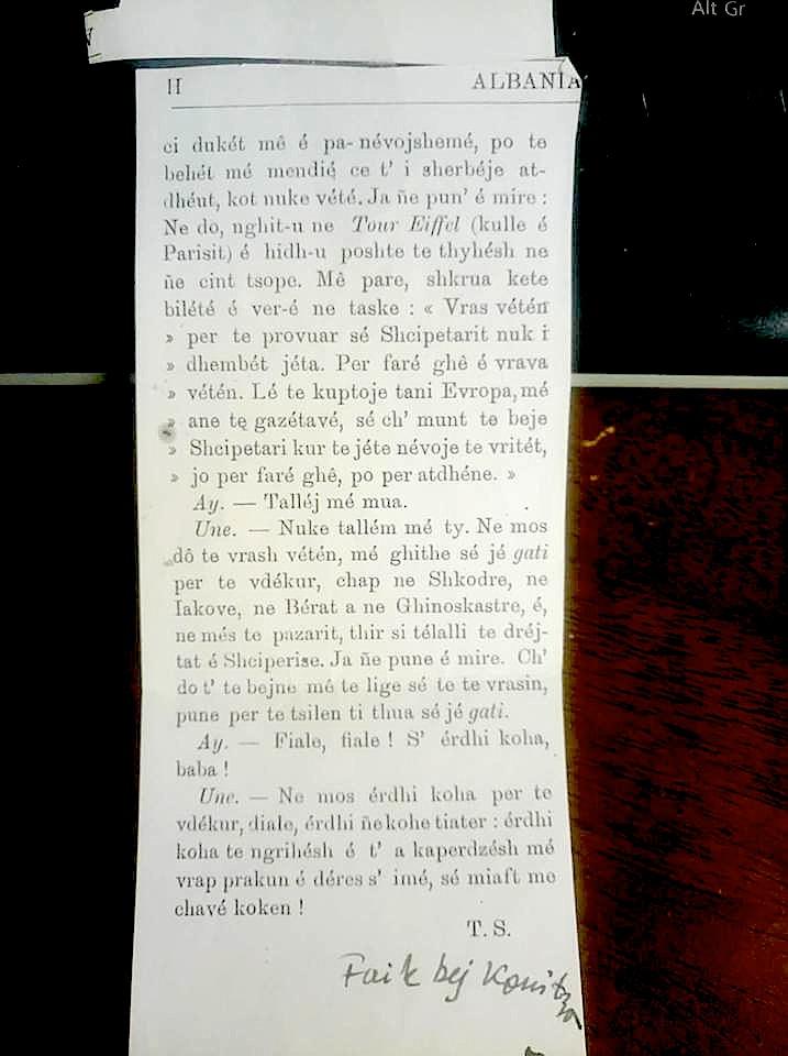 Faik Konica - Origjinali i Albanise