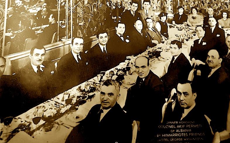 Darkë per Akif Përmetin, nga miqtë himarjotë në hotel George Washington, 12 maj 1934
