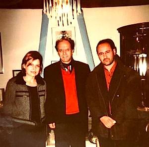 Klara Buda, Dr. Rugova e Guillaume Rober, në Rezidencën e Prishtinë,  vjeshtë 2002.