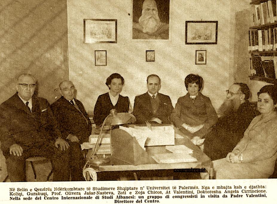 Koliqi ne Qendrën Ndërkombëtare të Studimeve Shqiptare - Palermo