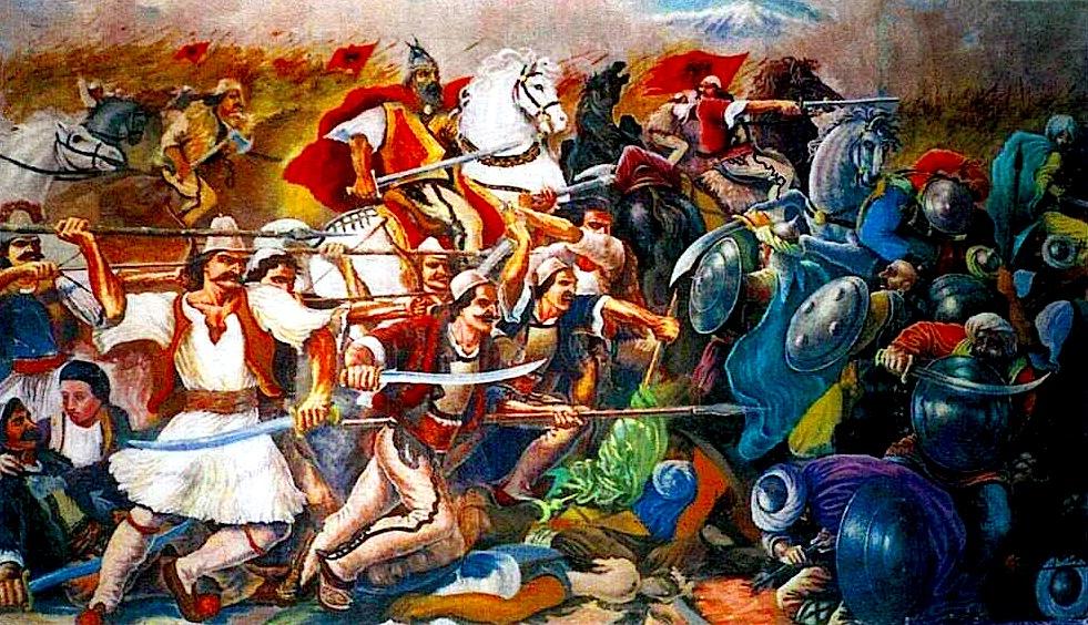 Luftrat e Skëndërbeut - Pikturë nga Lek Pervizi