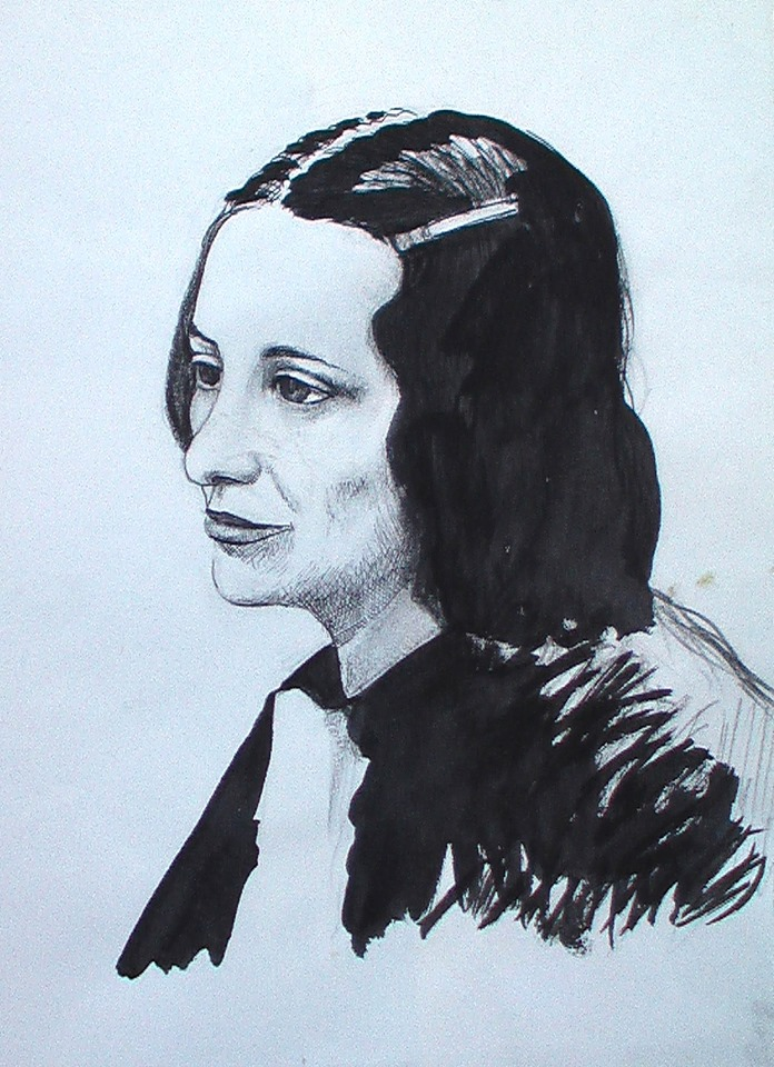 Musine Kokalari - skicë nga Agim Morina