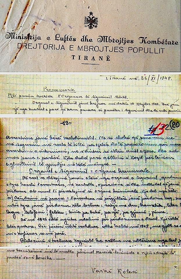 Shkrime dhe krime të Vaskë Kolecit