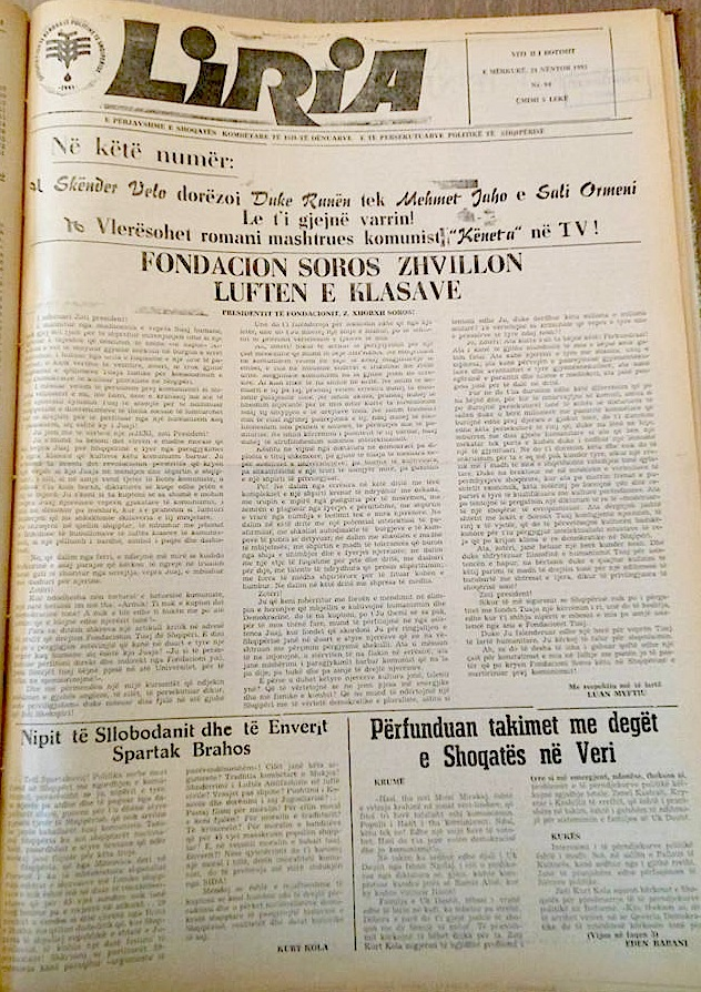 Gazeta Liria - Nr. 94 - Nëntor 1993