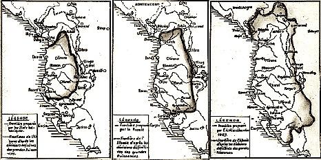 3 harta të Shqipërisë, të modeluar në konferencën e ambasadorëve në Londër 1913