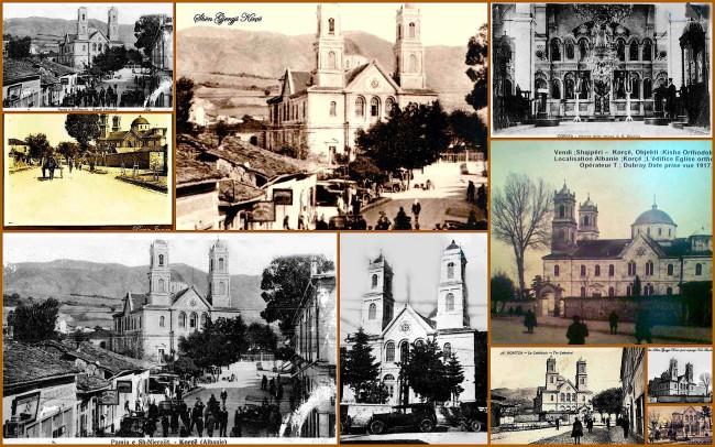 Pamje të Shën Gjergjit në vite e pika të ndryshme në një kolazh - Kristaq Kotonika