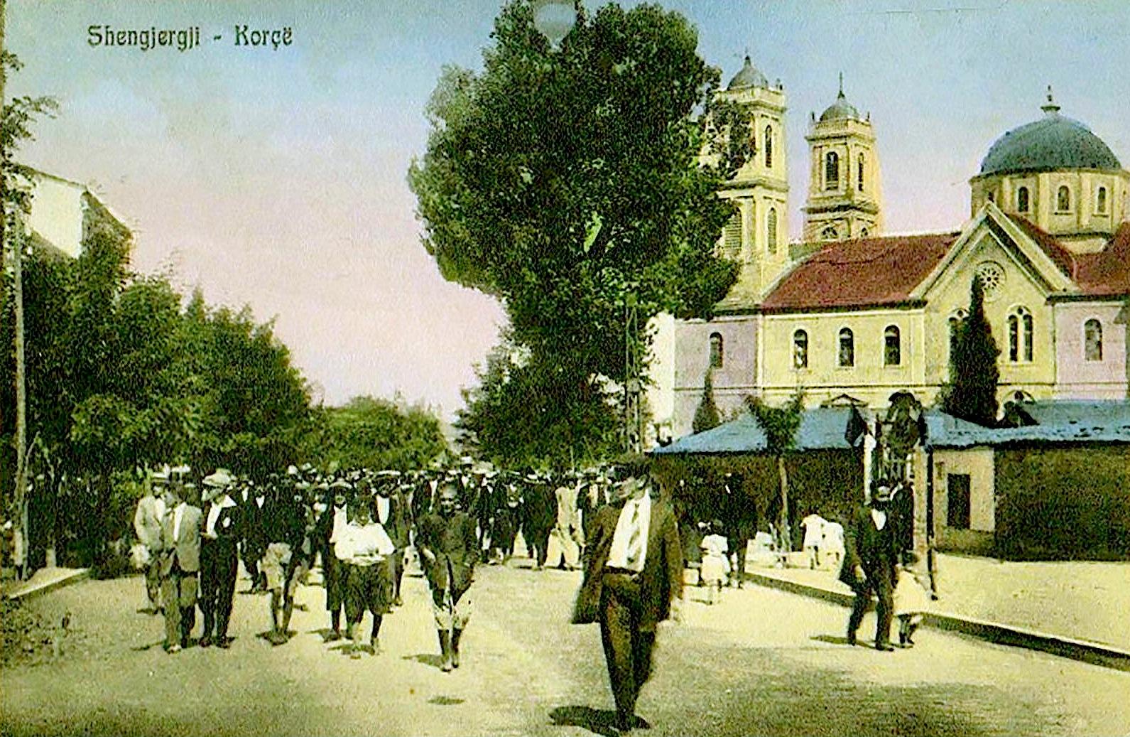 Shetitje te Katedralja e Shën Gjergjit Korçë